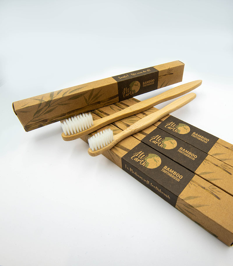 Family Set of Bamboo Toothbrushes