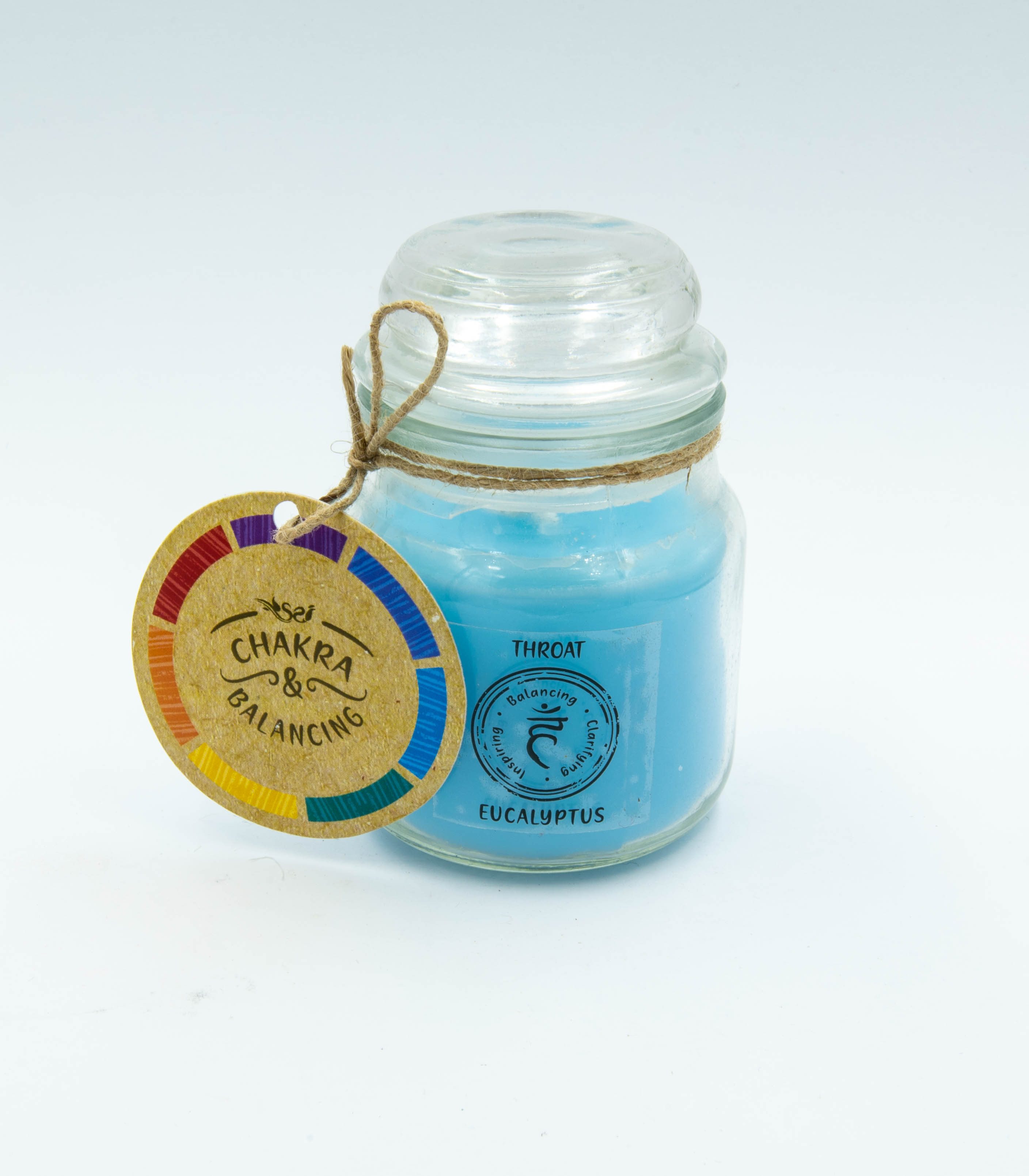Throat Chakra Eucalyptus Scented Candle