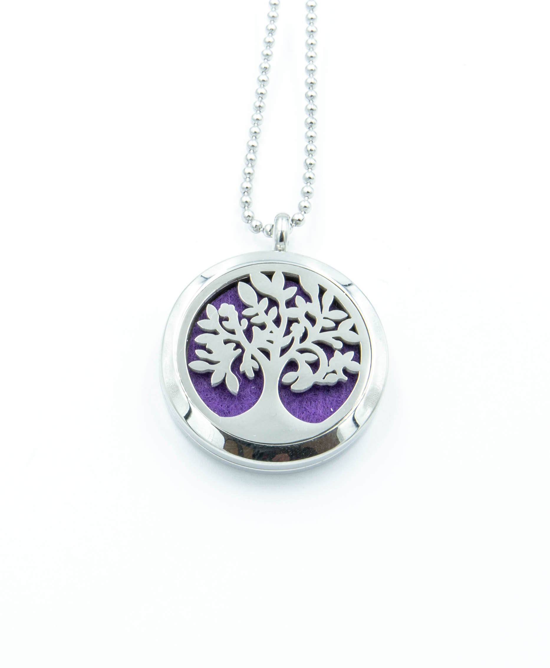 Aromatherapy Necklace Tree of Life Design