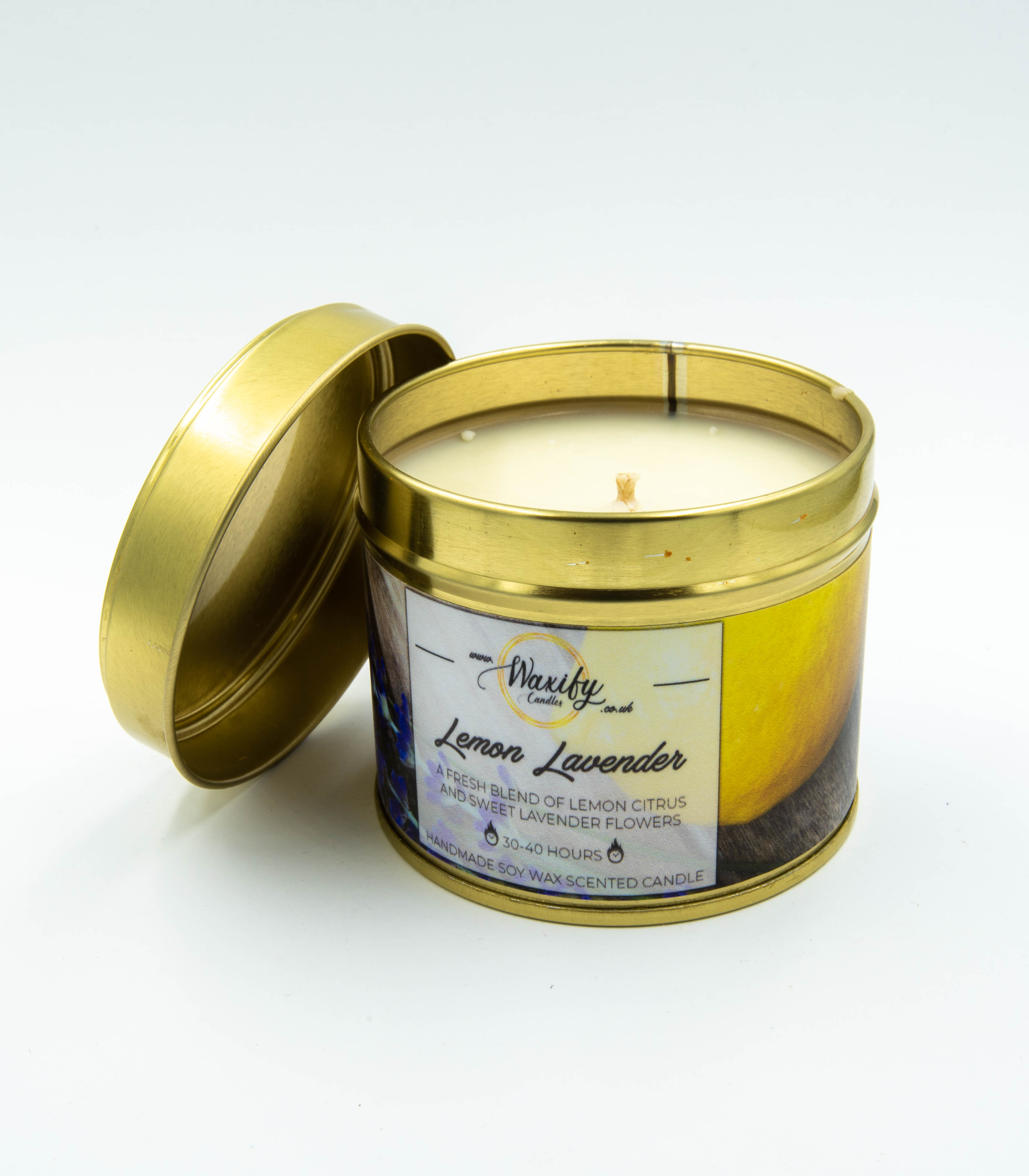 Lemon Lavender Hand Made Soy Candle
