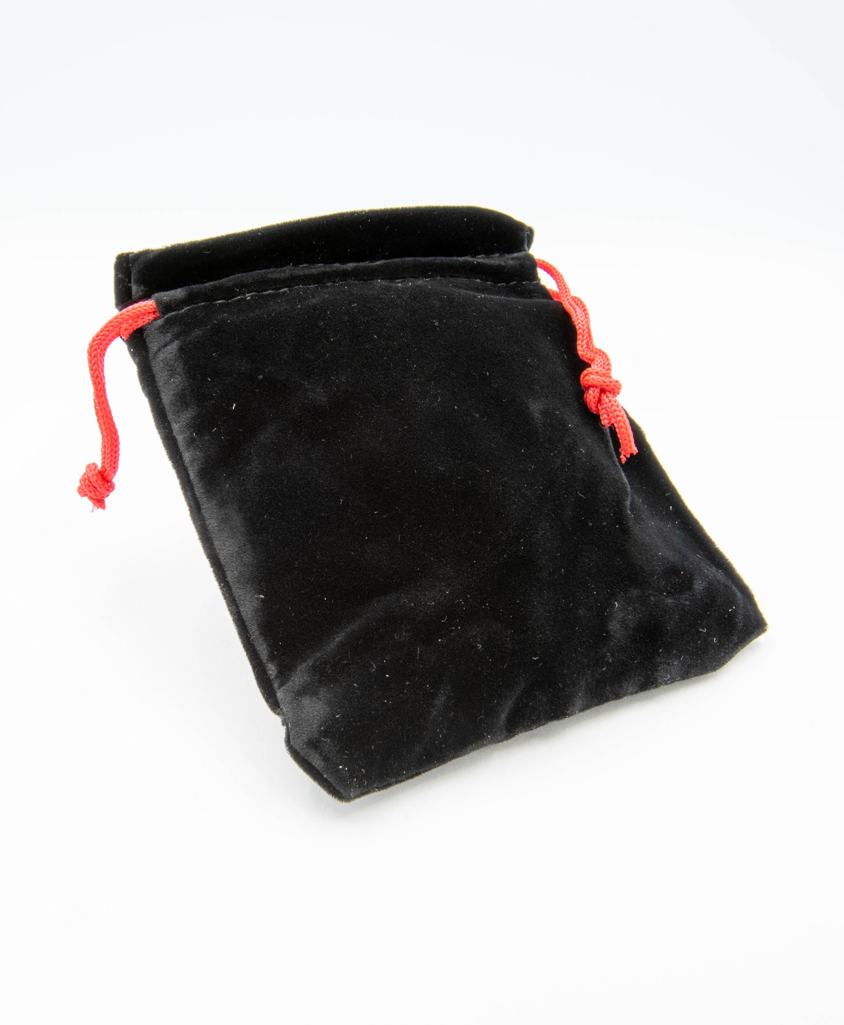 Black Velvet Pouches with red draw string